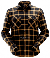 Рубашка в клетку Snickers Workwear, Flannel Checked Long Sleeve Shirt (арт. 8516)