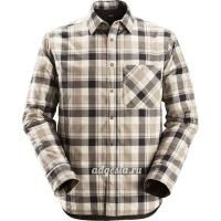 Утепленная рубашка Padded Flannel Checked Long Sleeve Shirt, Snickers Workwear 8501
